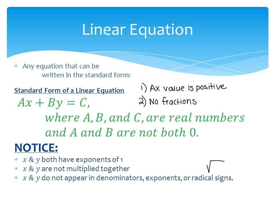 how to tell if a equation is linear