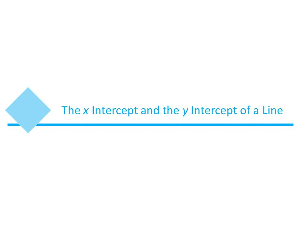 how to find y and x intercept of a line