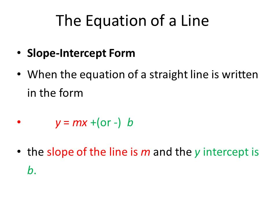 how to put an equation in slope intercept form