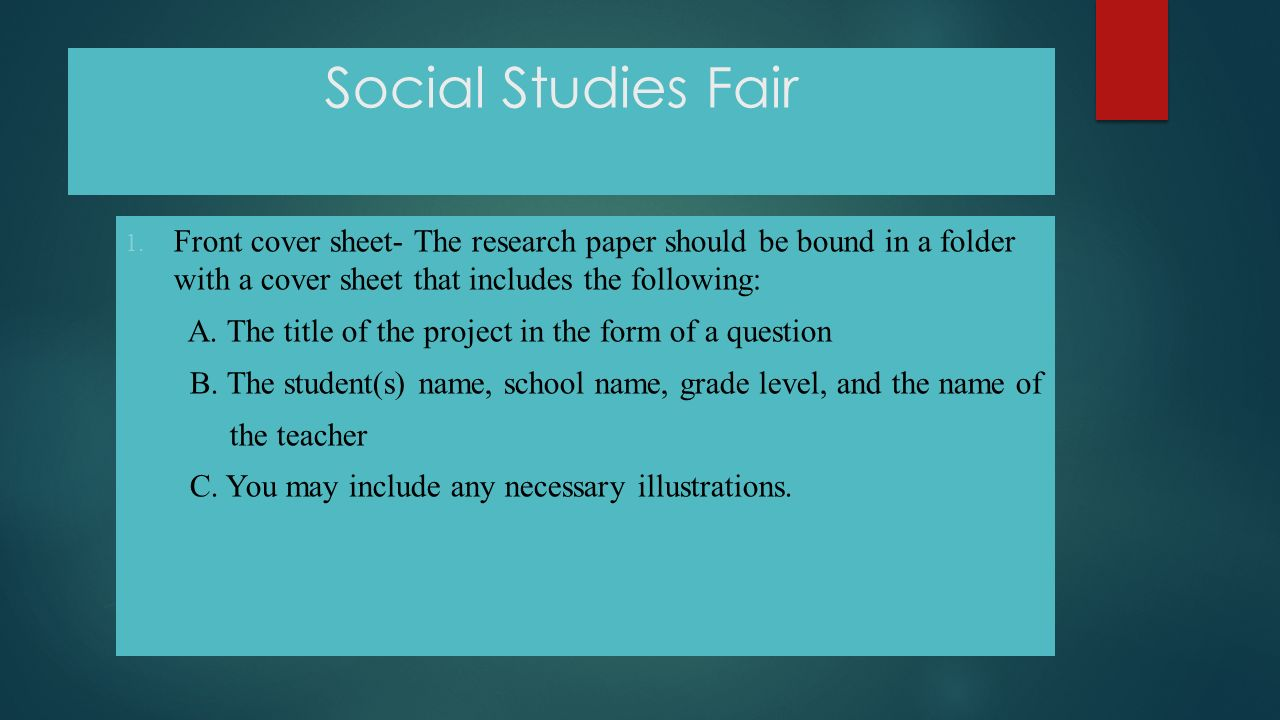 thesis statement for social studies fair A thesis statement can be the thing that makes or breaks your thesis statement examples for research papers common core history & social studies grades 9.