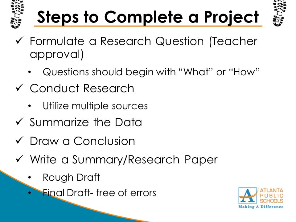 steps to project completion The performance and control step of project management occurs over the time from the project's launch to its completion, and serves as a method to measure and compare the status of the project compared to the original plan.