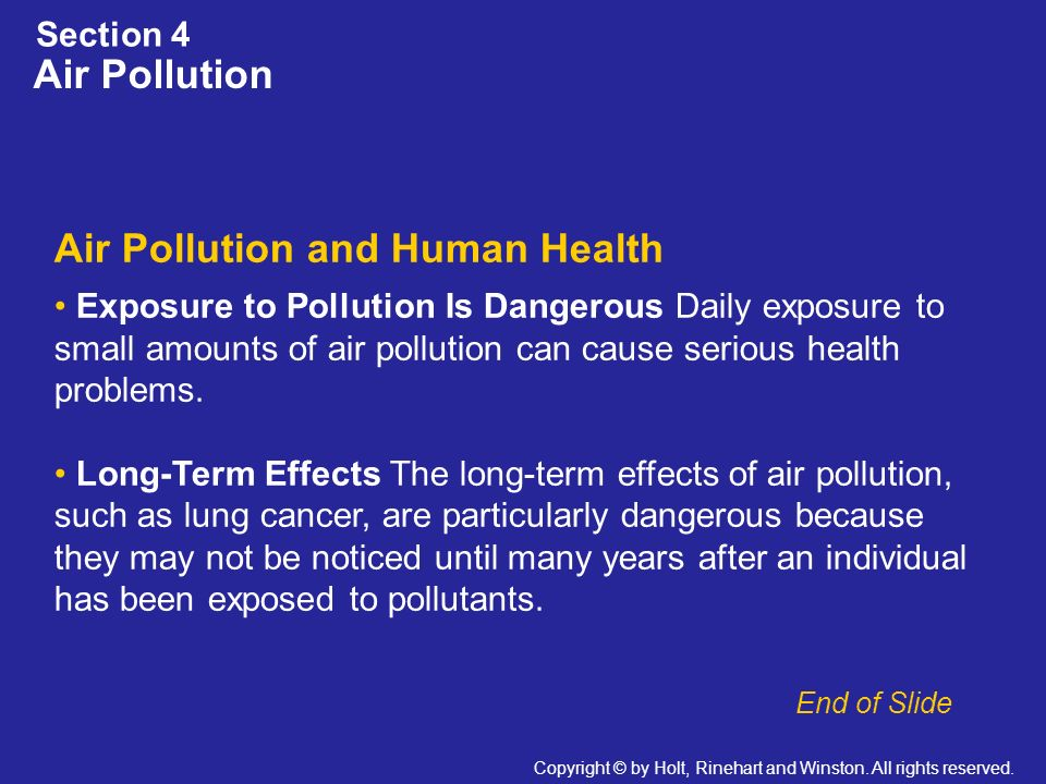 Air Pollution and Human Health