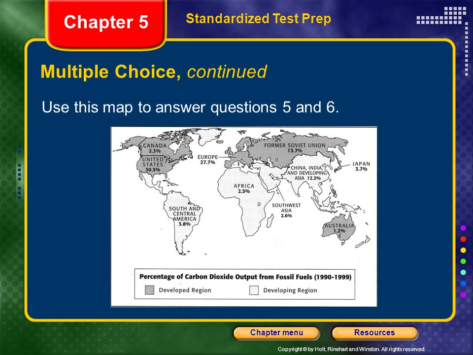 Chapter 5 Multiple Choice