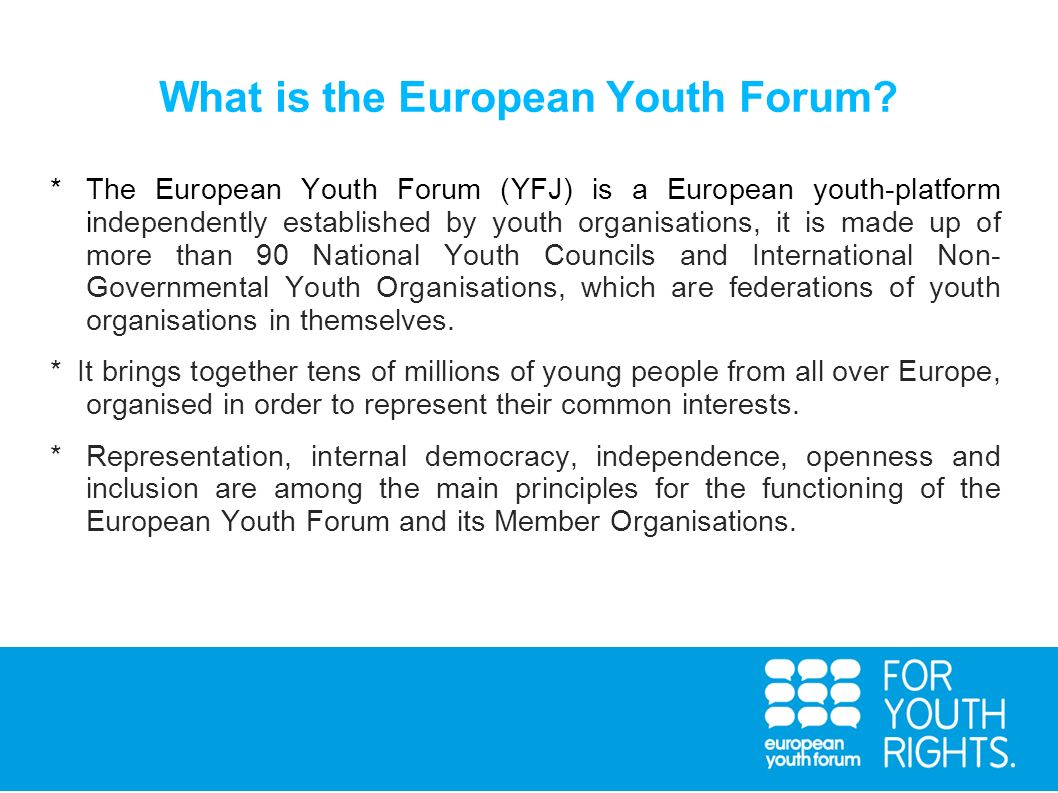 What is the European Youth Forum