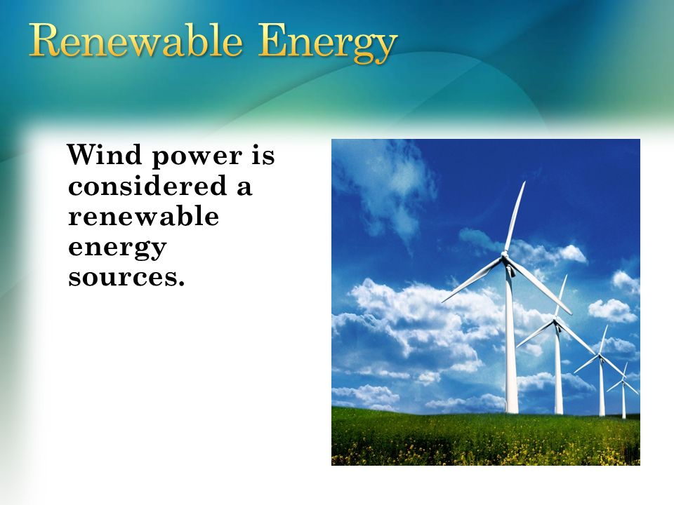 we should use renewable energy sources more If producing a renewable energy device costs more energy than it produces during its lifetime, it's not sustainable because we're a net consumer of energy but there's a material side to it as well.