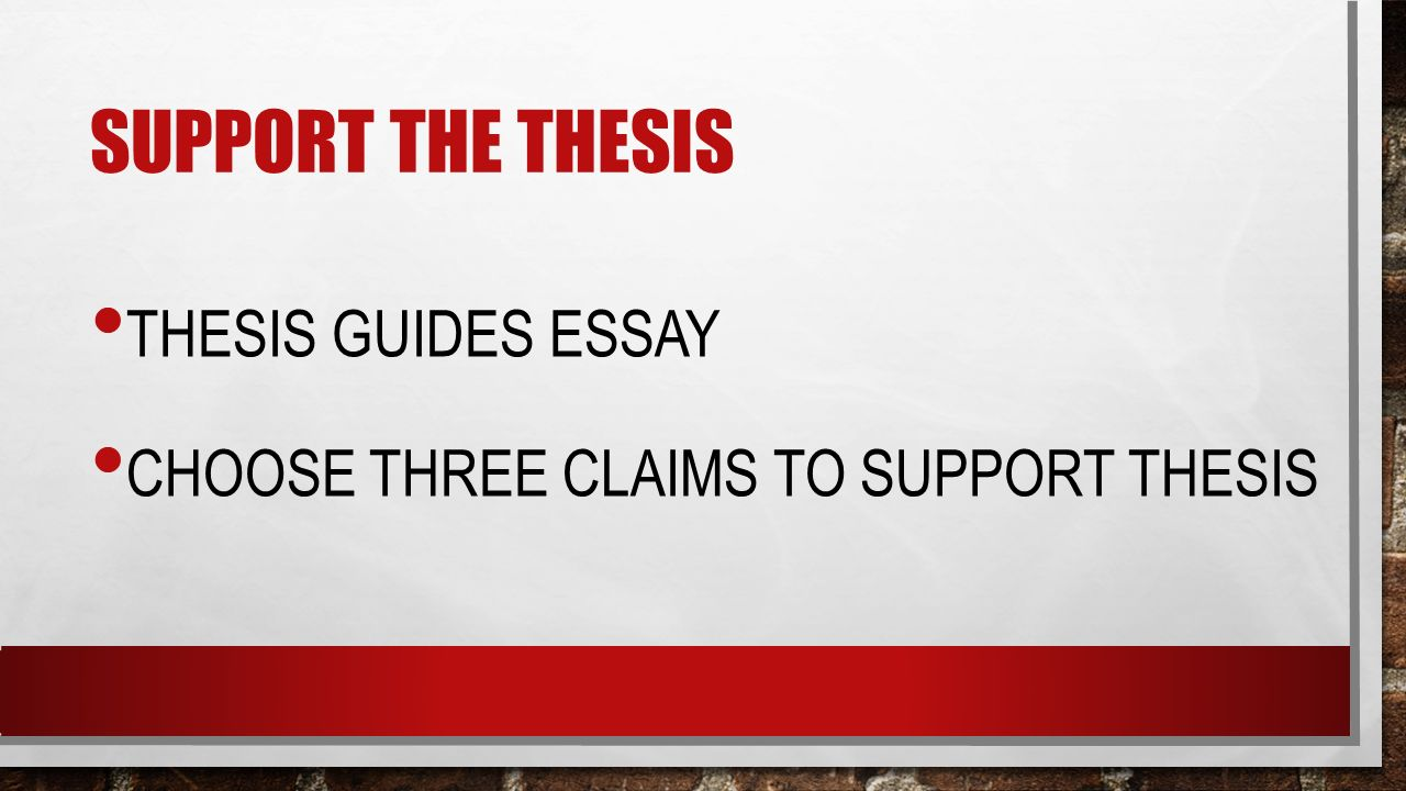 supporting the thesis Get an answer for 'what would be a good thesis statement for an essay discussing capital punishment (the death penalty)' and find homework help for other essay lab questions at enotes.