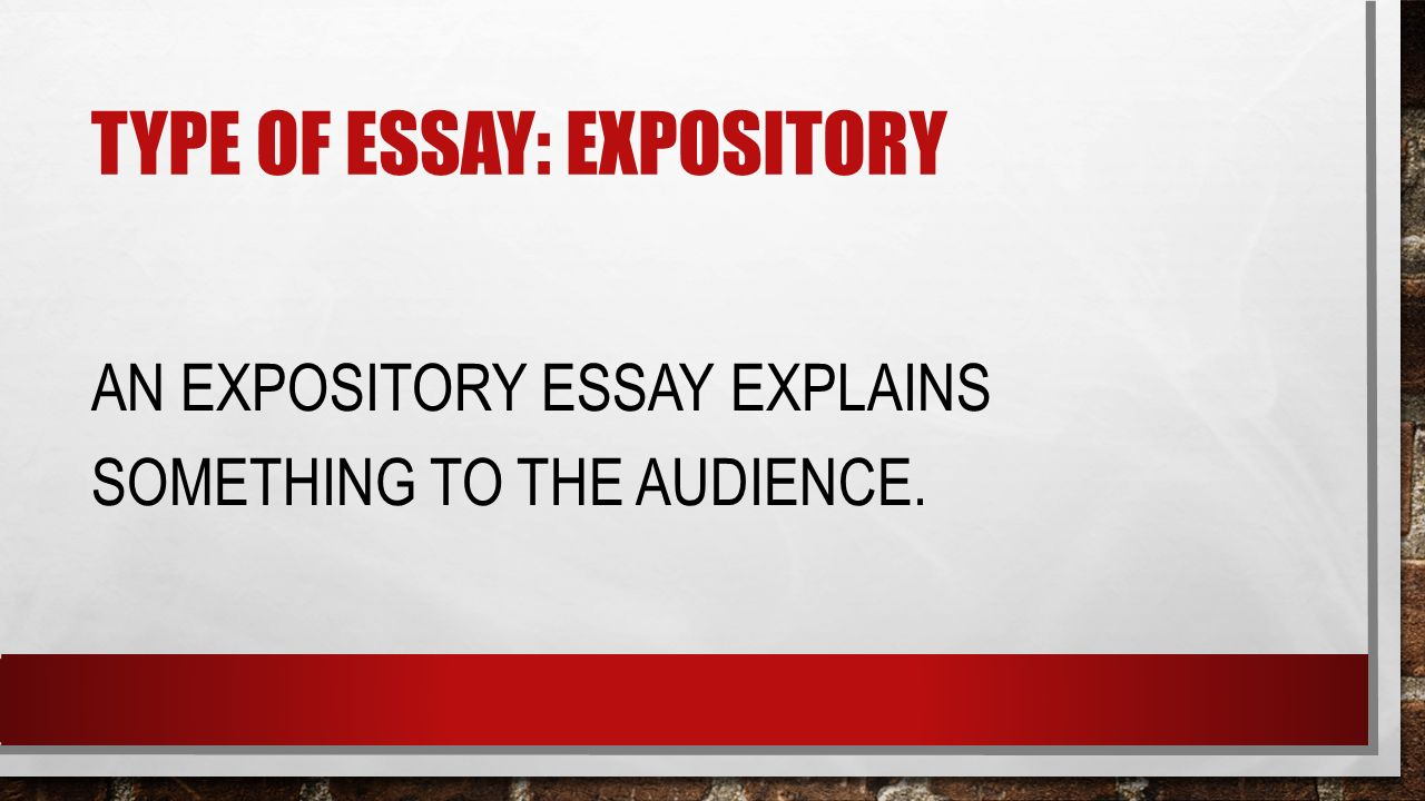 6 types of expository essays