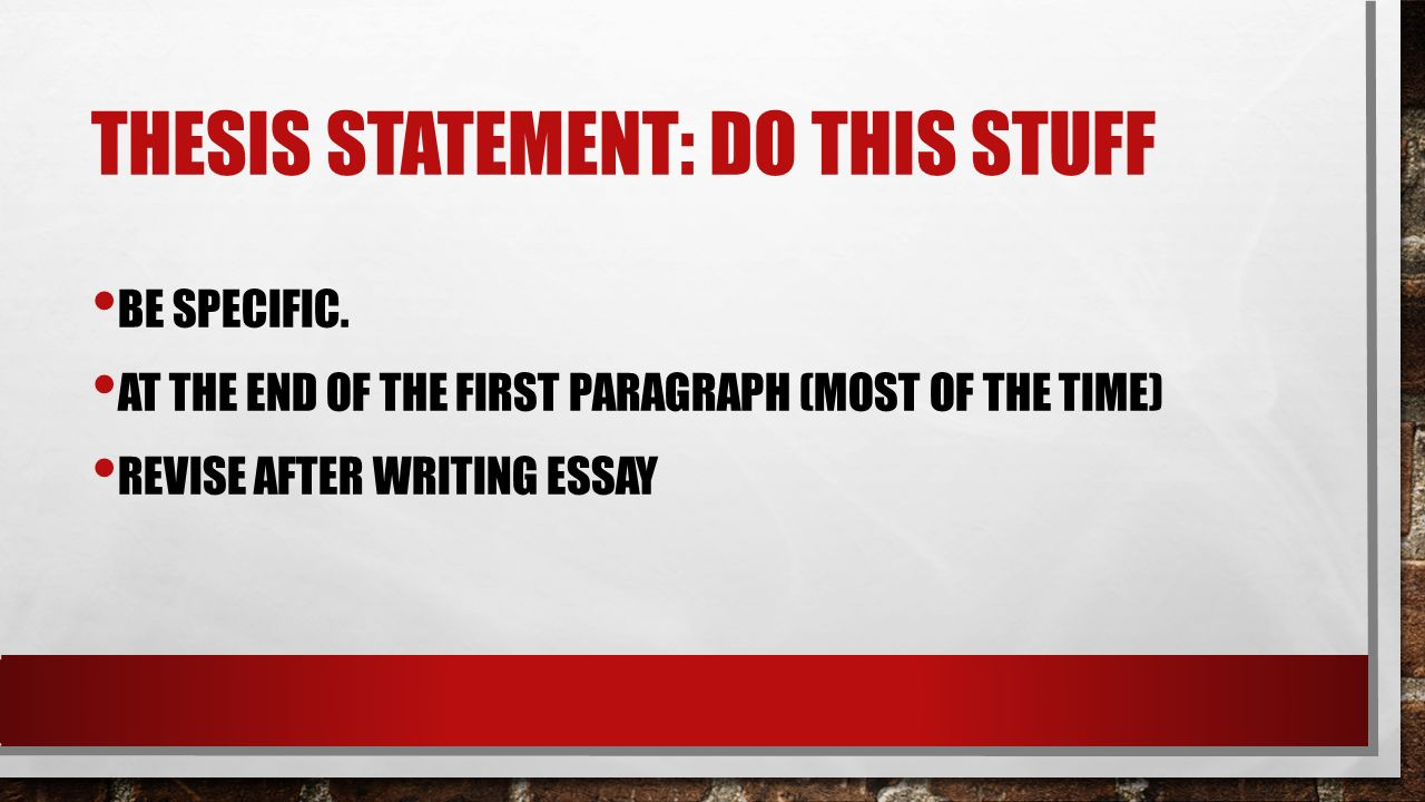 thesis statements online Get an answer for 'i need a thesis statement on feminism ' and find homework help for other literature questions at enotes.