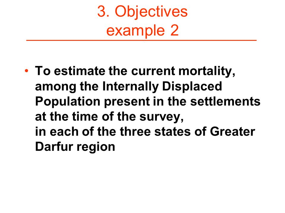 3. Objectives example 2