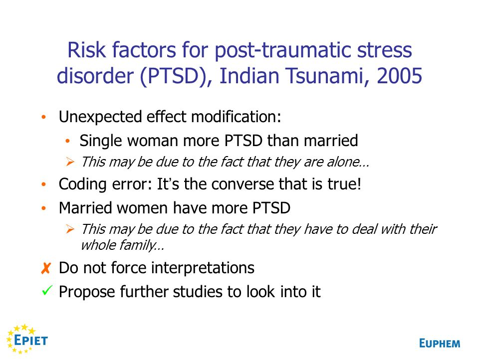 Risk factors for post-traumatic stress disorder (PTSD), Indian Tsunami, 2005