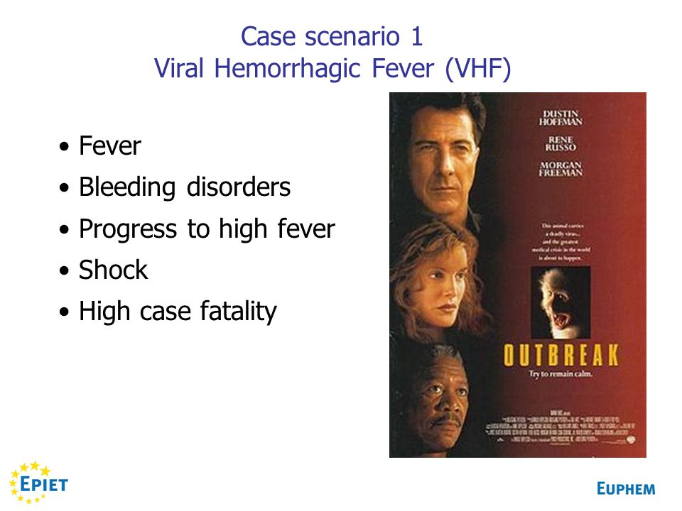 Case scenario 1 Viral Hemorrhagic Fever (VHF)