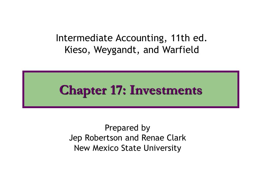 intermediate accounting chapter 03 Description the third edition of intermediate accounting: ifrs edition provides the tools global accounting students need to understand ifrs and how it is applied in practicethe emphasis on fair value, the proper accounting for financial instruments, and the new developments related to leasing, revenue recognition, and financial statement presentation are examined in light of current practice.