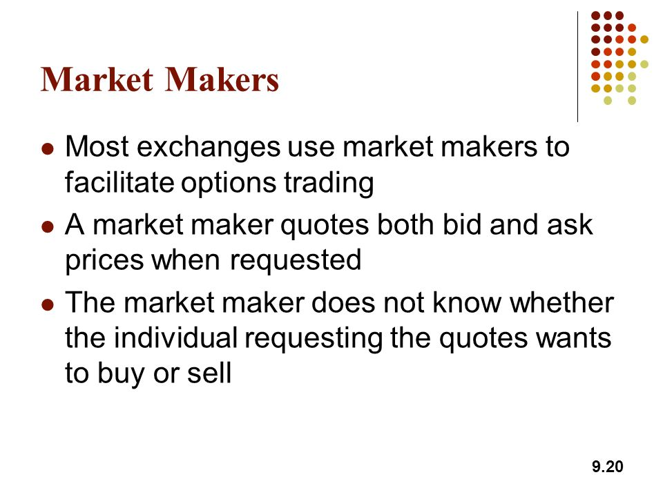 Trade options like a market maker
