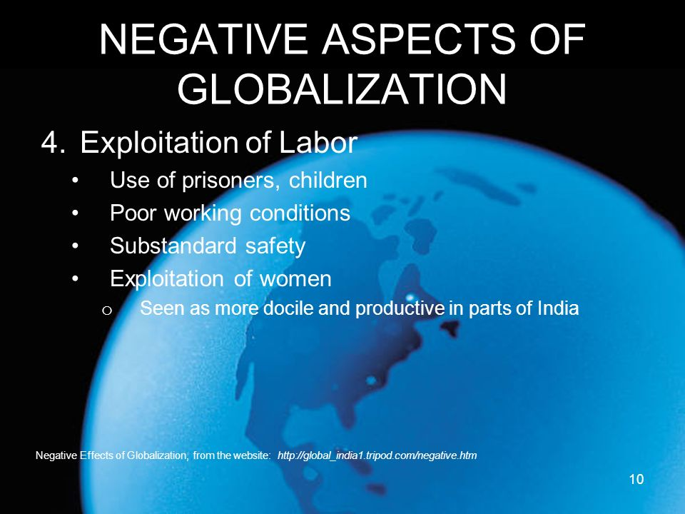 negative impact of globalisation on indian culture Globalization has negative and positive impacts on cultural identity the main side effect of globalization impact on cultural identity is the spread of multinational corporations.
