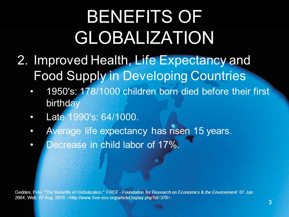 an analysis of globalisation Estimated in a 2010 report - united nations office on.
