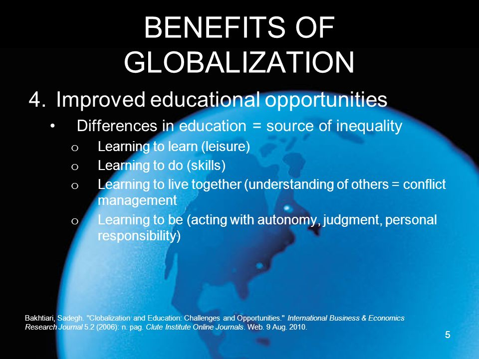 globalization a policy of apocryphal benefits There was broad recognition of the benefits of globalization, but nized that globalization is a reality, that it is necessary to adjust policy priorities to.