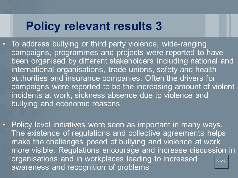 Policy relevant results 3