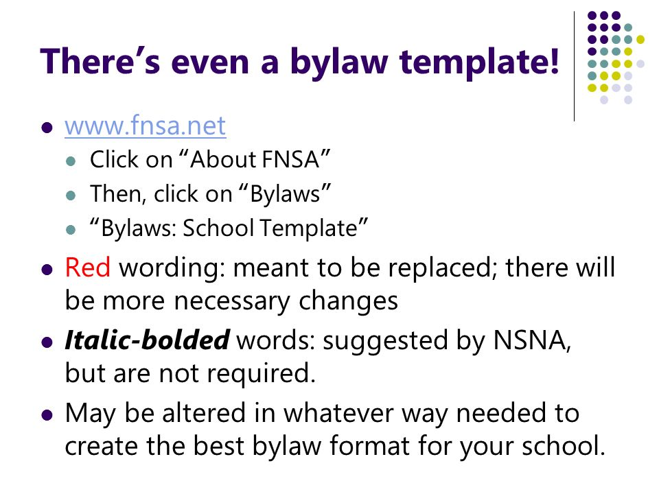 Thereu0027s Even A Bylaw Template!  Club Bylaws Template