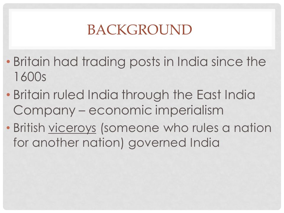 imperialism and its impact of on india Throughout history, many nations have implemented imperialism to enforce their will over others for money, protection and civilization india was no exception since its discovery, europeans were trying get a piece of india's action in many cases england was the imperial, or mother country.