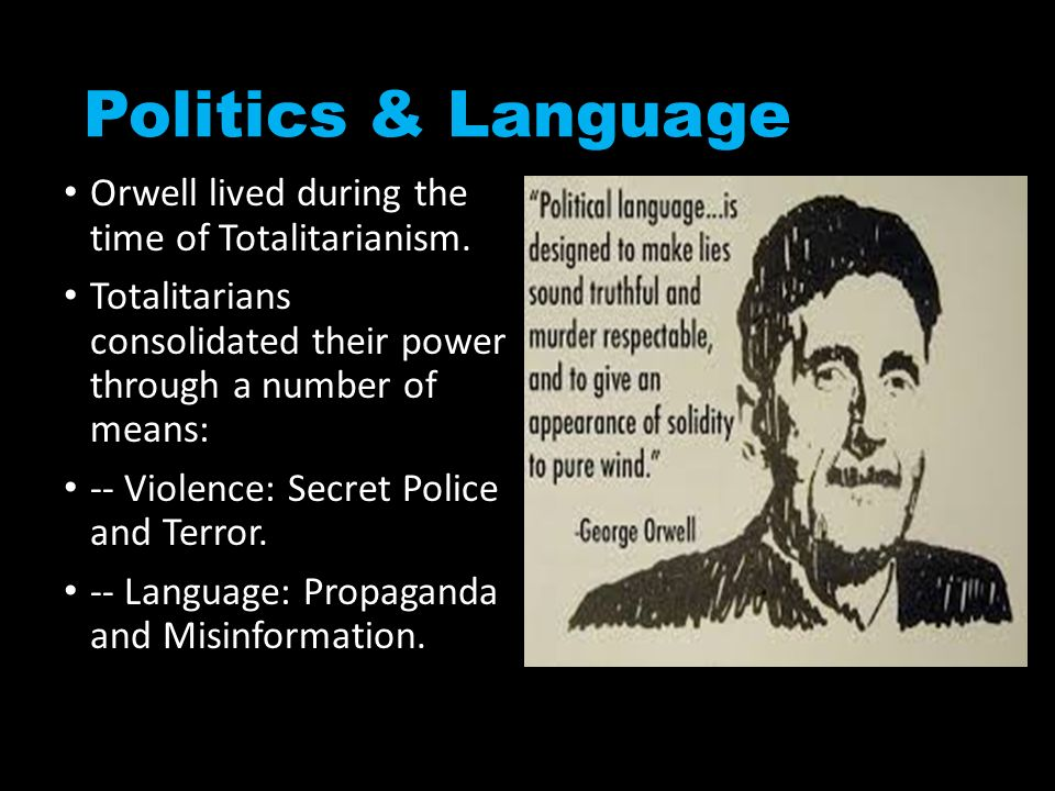 orwell and totalitarian propaganda essay