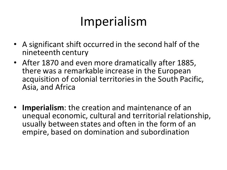 european imperialism 19th century essay 19th century european imperialism data based essay identify and explain the political, economic, and social causes of european imperialism in the 19th century.