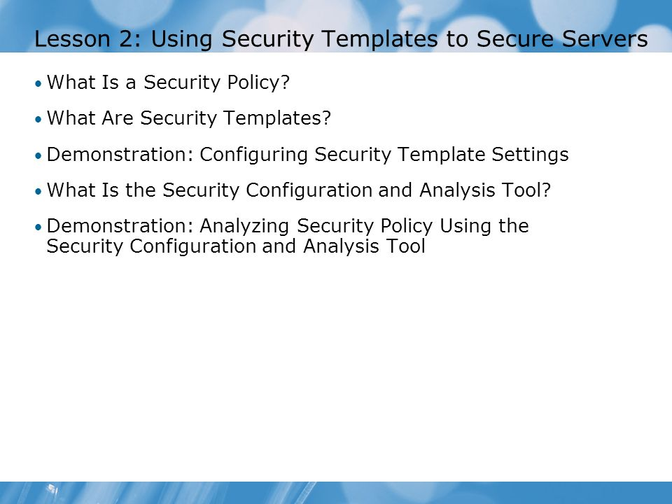 Module  Configuring Server Security Compliance  Ppt Download
