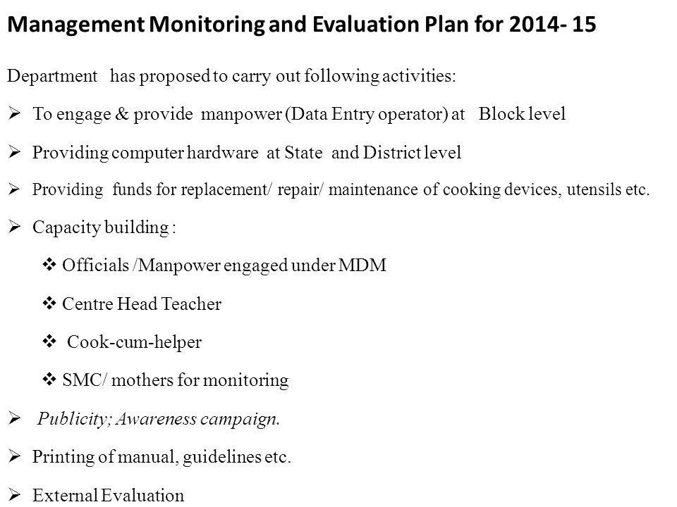 monitoring and evaluation campaign plan pdf