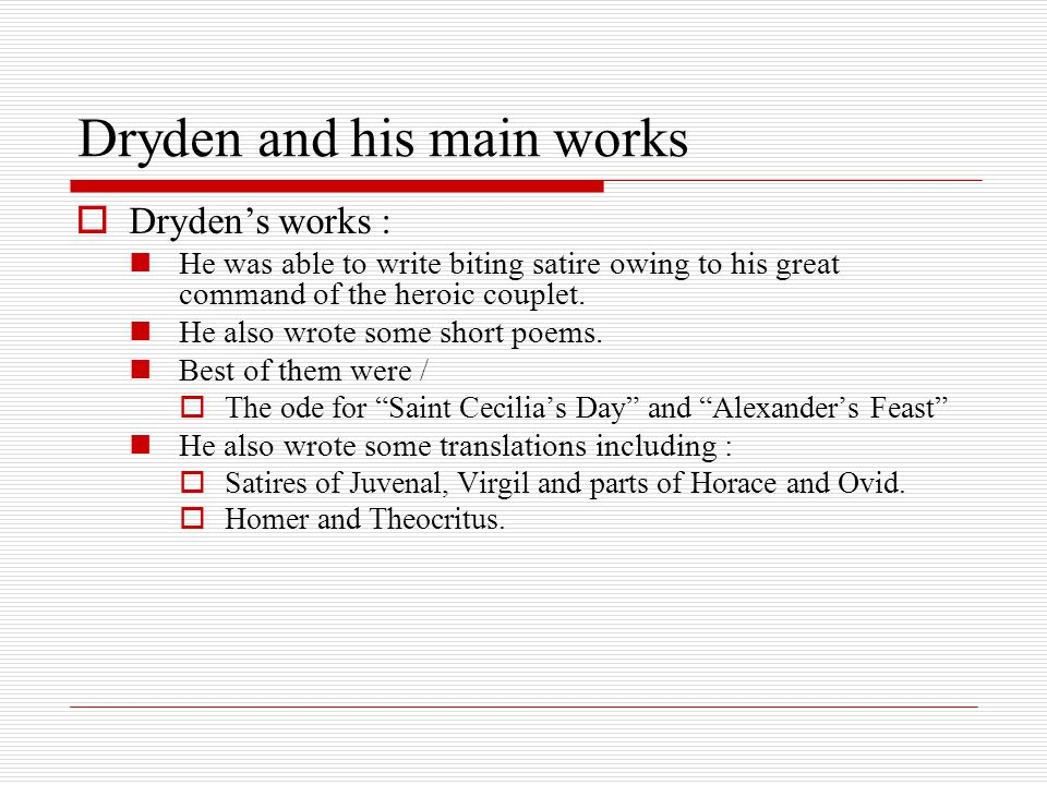 dryden on satire essay John dryden's critical essays foreshadow the satire of which eighteenth-century writer was asked by shelly notetaker on may 31 2017 874 students have viewed the.