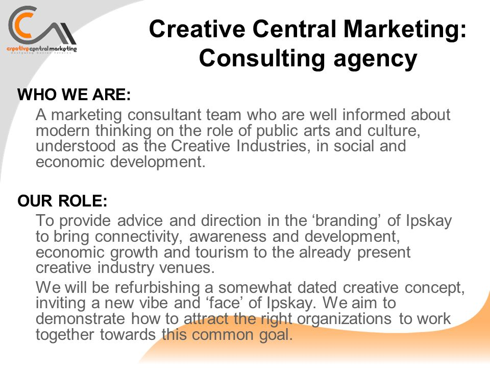 creative marketing project While you can write a creative marketing brief alone, gathering a  this, again,  will depend on the overall goals of your marketing plan and.