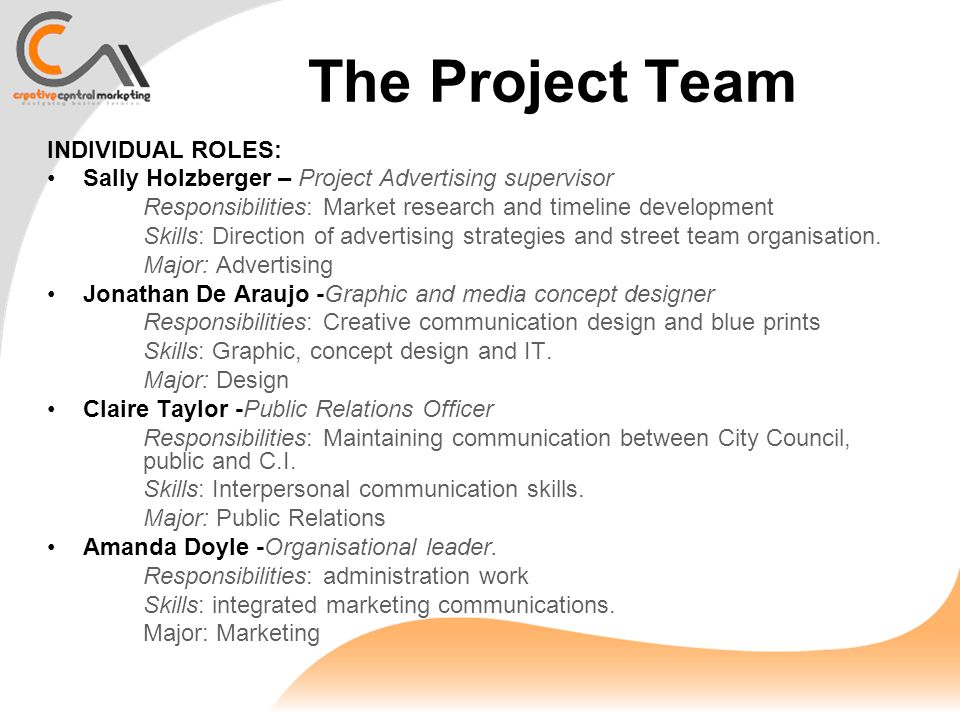 Creative Central Marketing Agency Project Proposal Ipskay Central