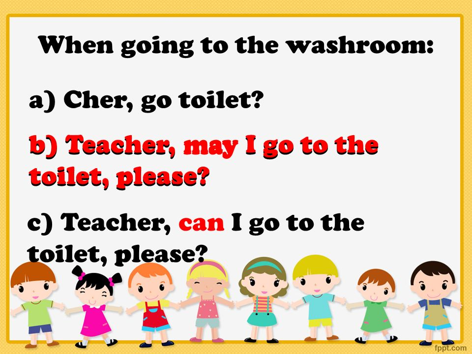 When going to the washroom. English VS Singlish    ppt video online download
