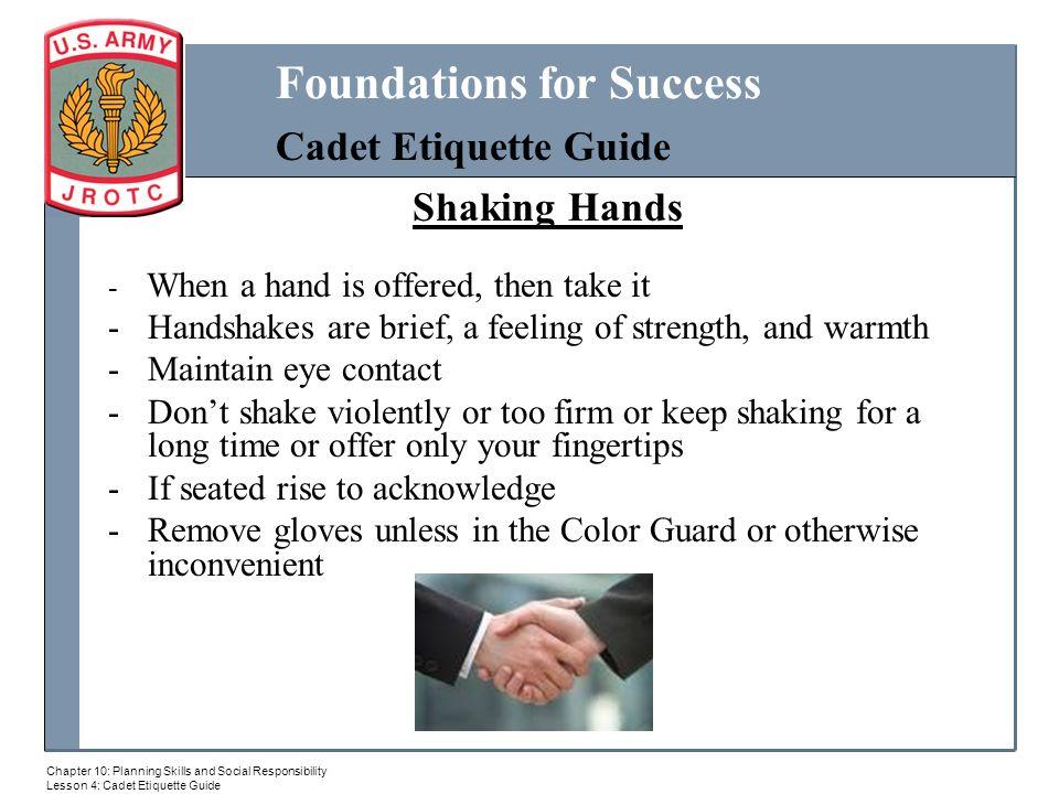Cadet Etiquett MILITARY BALL ppt download : ShakingHandsHandshakesarebrief2Cafeelingofstrength2Candwarmth from slideplayer.com size 960 x 720 jpeg 92kB