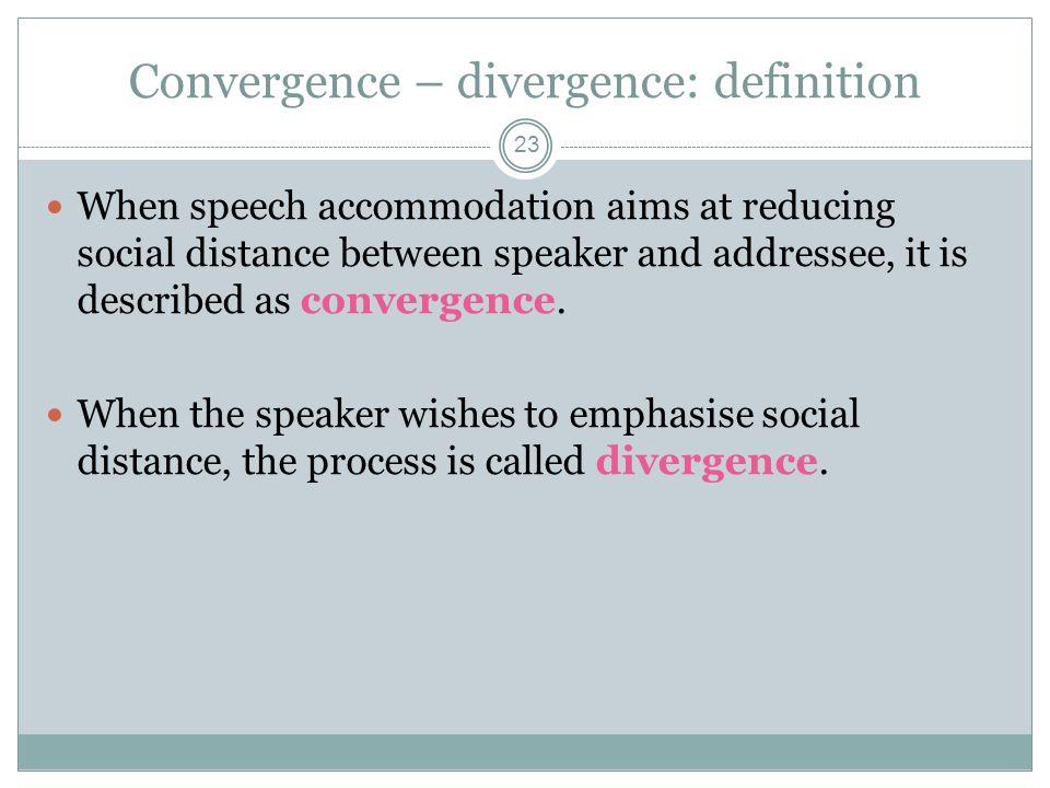 Convergence U2013 Divergence: Definition
