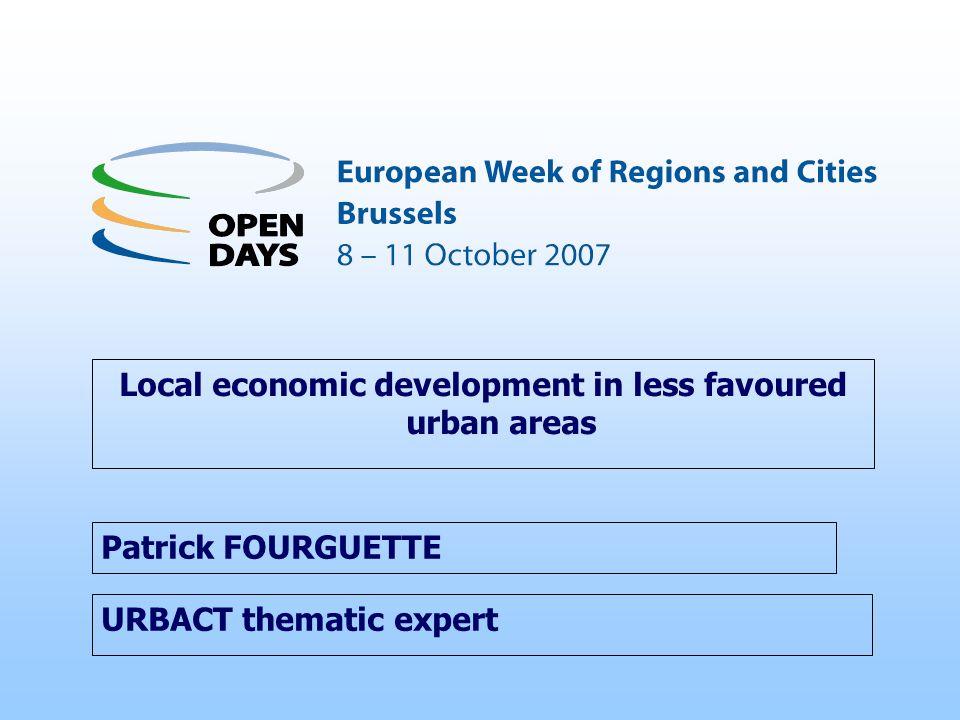 Local economic development in less favoured urban areas