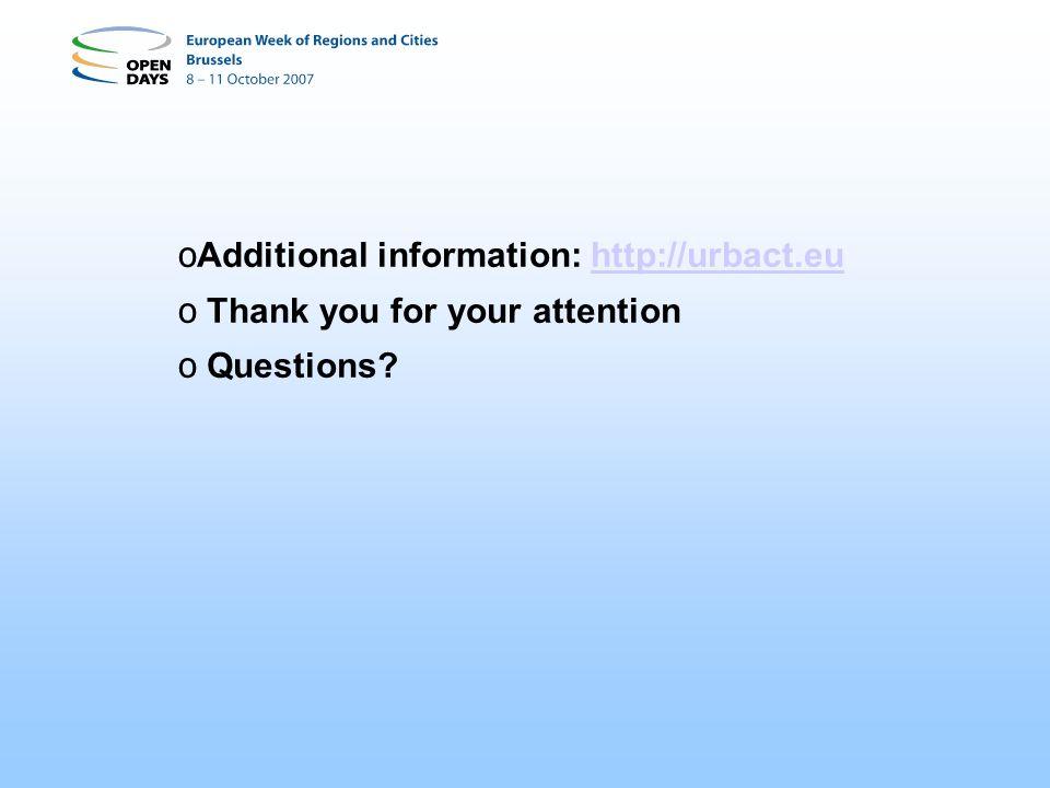 Additional information: http://urbact.eu