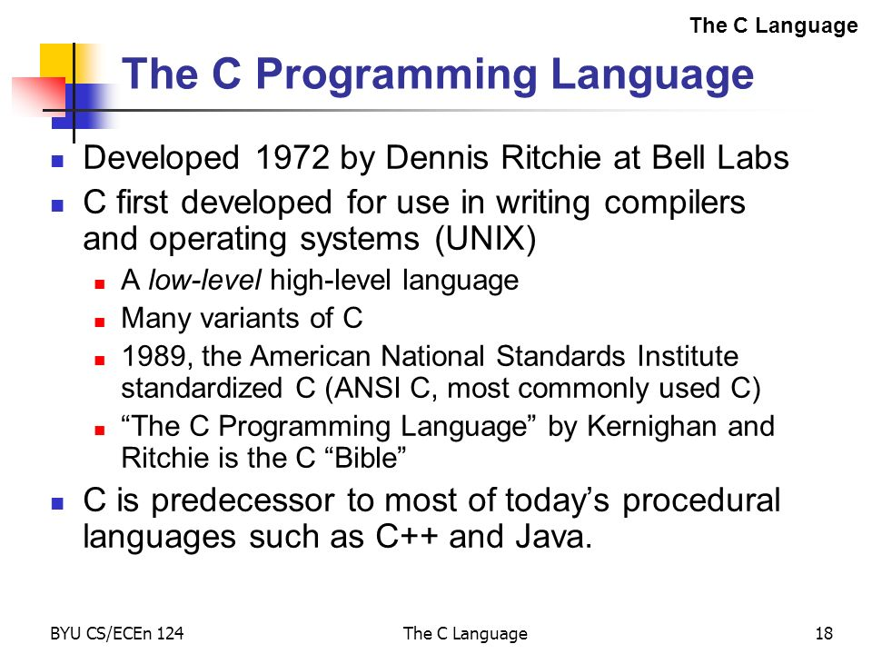 The c language ppt video online download Ansi c compiler online
