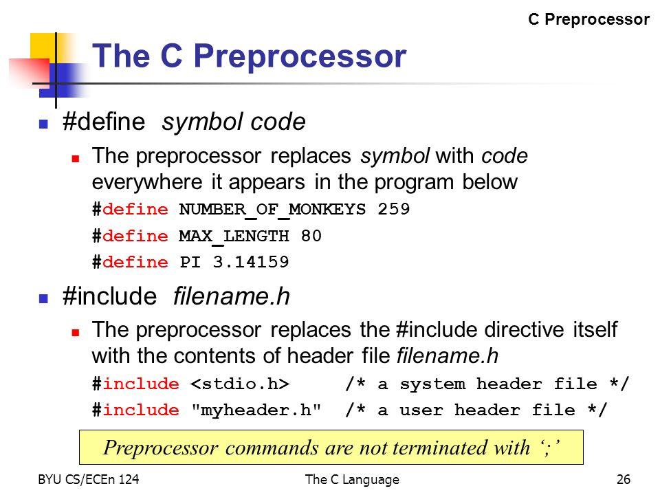 The C Language Ppt Download