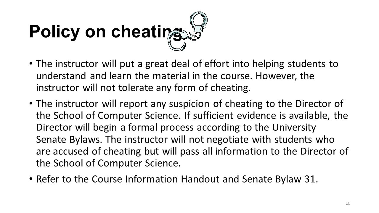 coursework info cheating