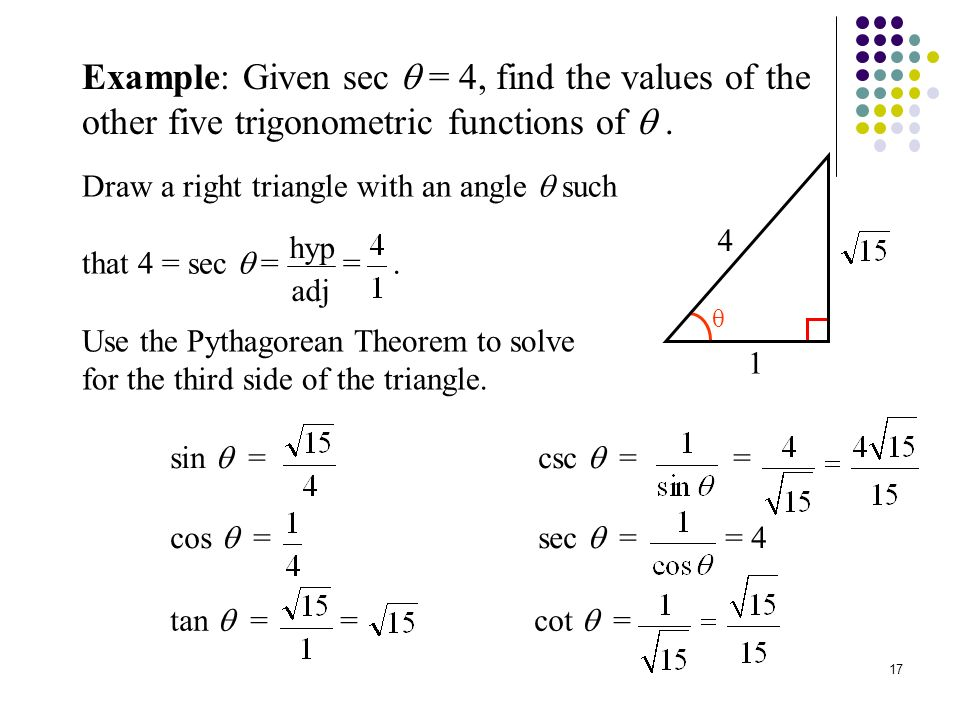 how to find the base angle trig