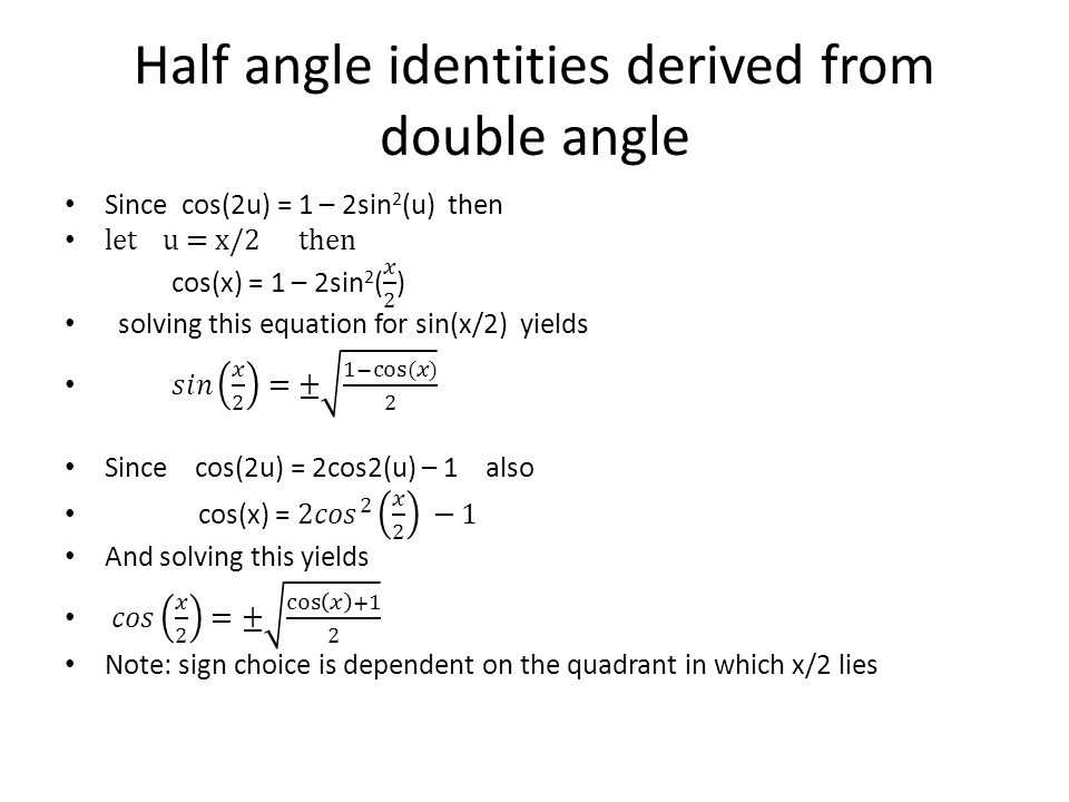 Double angle identities worksheet a 13 6