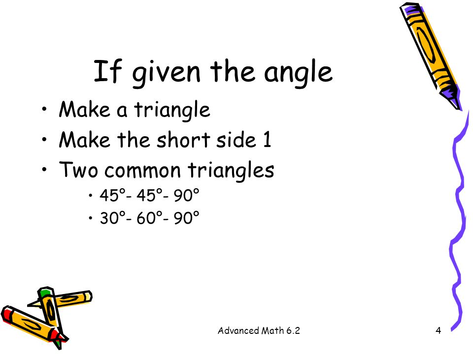 how to find the short side of a right triangle