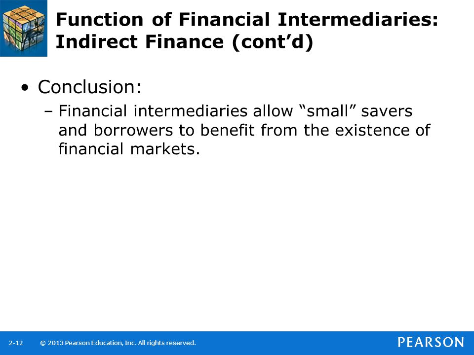 Function of Financial Intermediaries: Indirect Finance (cont'd)