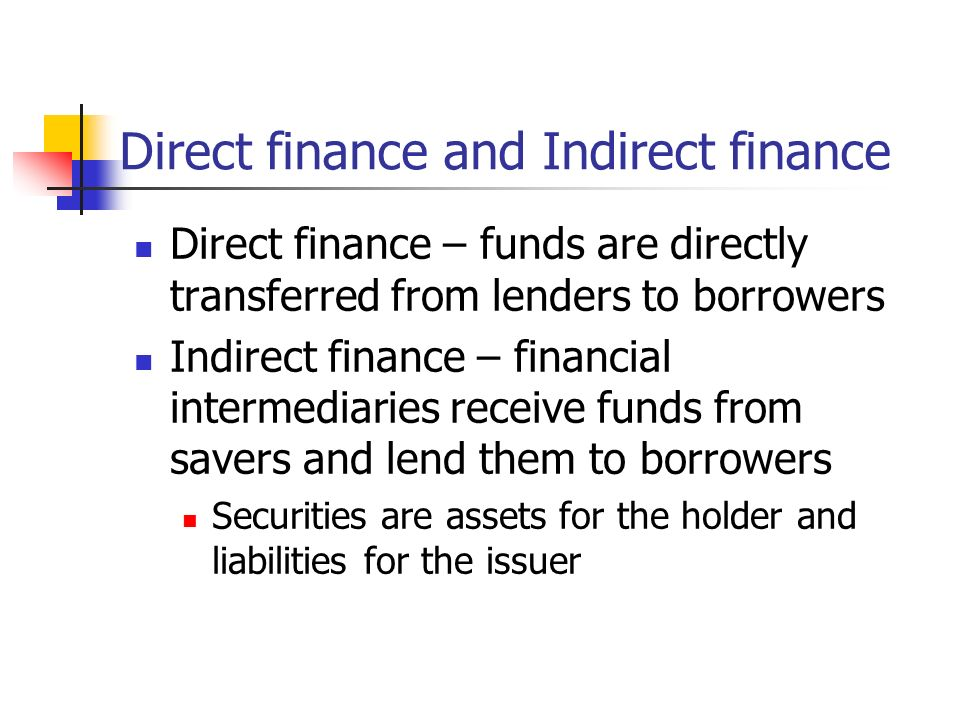 the financial markets direct and indirect transfers The potential costs of such activities fall into four categories: direct costs to  participants  the financial markets and transfers of wealth from taxpayers to  participants in the financial  or indirect, as with disruptions of the operations of  the firm.