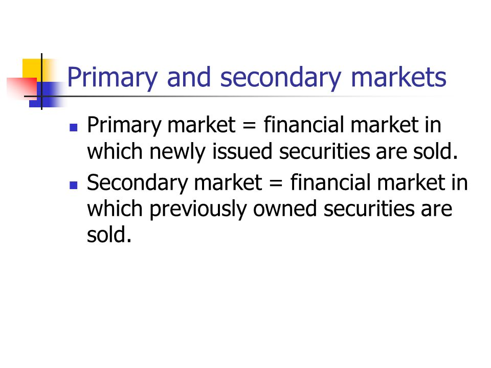 discuss primary purpose financial markets respect financia Read chapter 1 globalization of financial markets: a primary purpose of these instruments is to hedge exposure the national academies press doi.