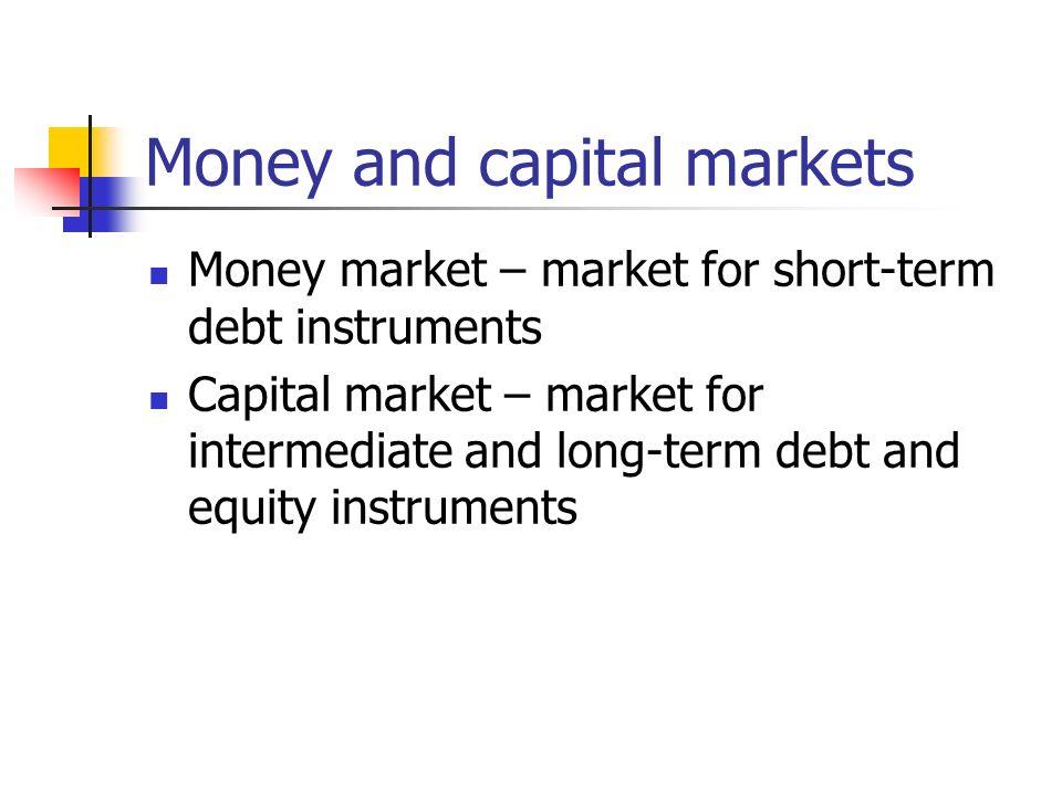 capital market debt instruments