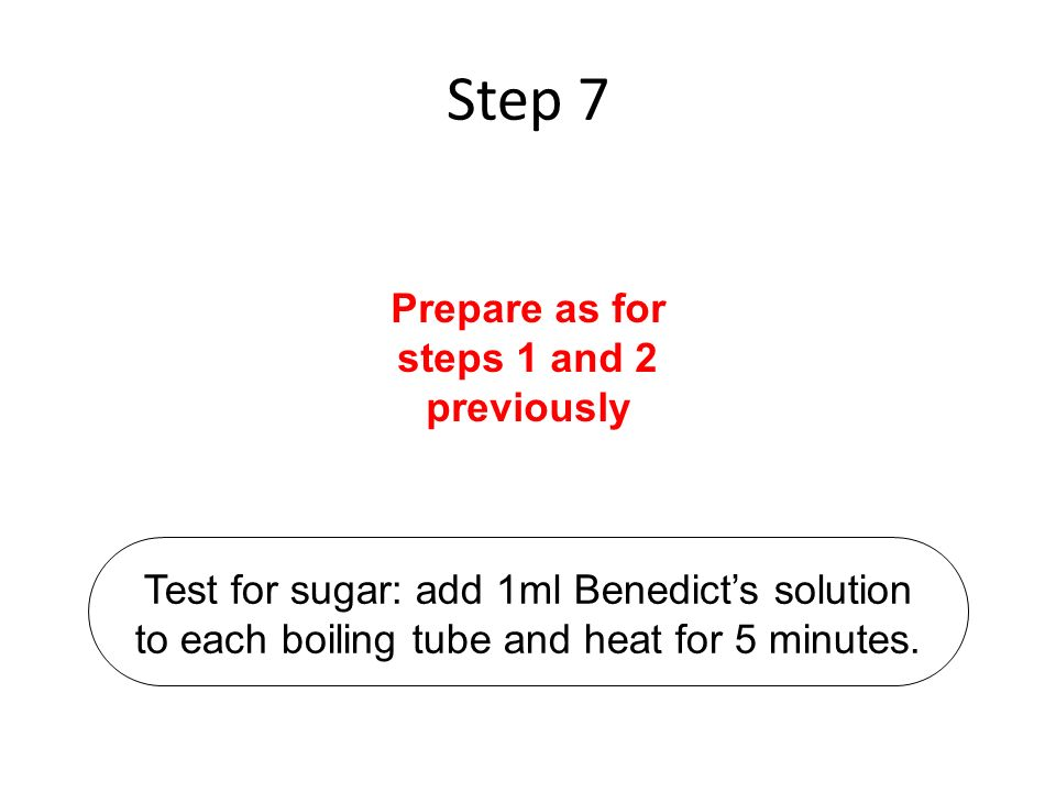 Prepare as for steps 1 and 2 previously