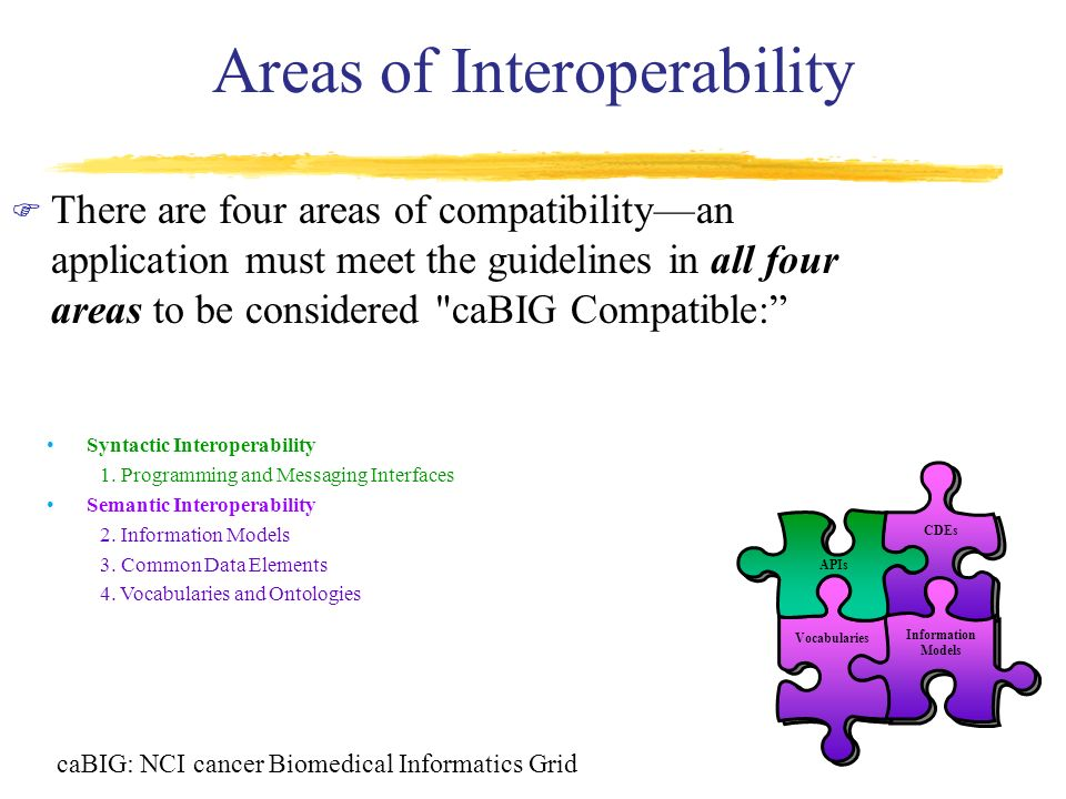 Areas of Interoperability