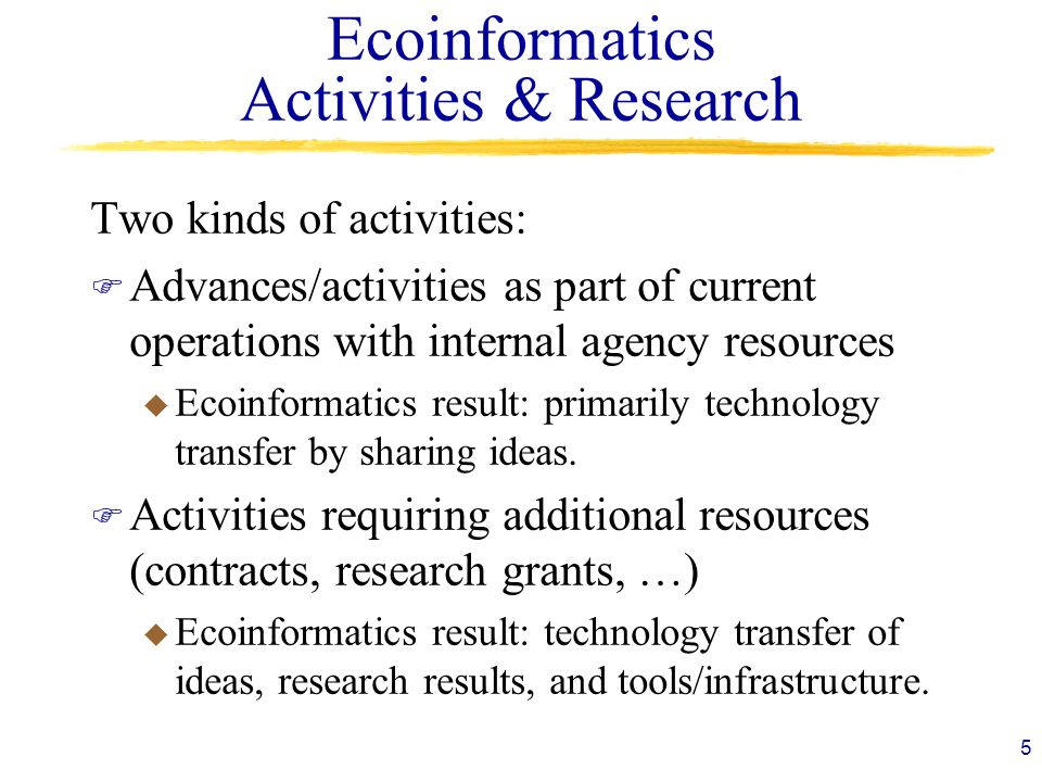 Ecoinformatics Activities & Research
