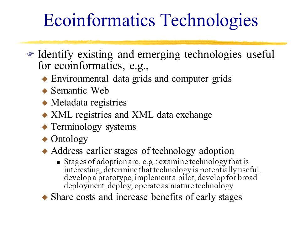 Ecoinformatics Technologies