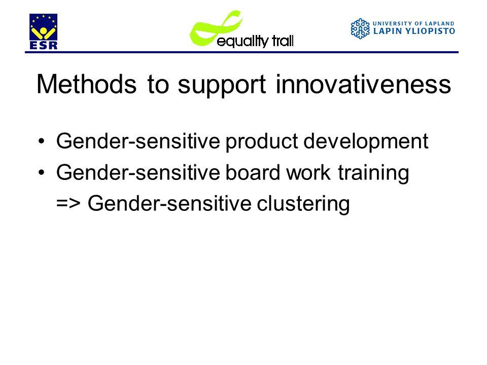 Methods to support innovativeness
